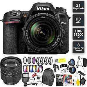 Nikon D7500 Dslr Camera + Nikkor 18-105mm Vr Lens + Nikon 24