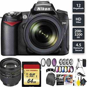 Nikon D90 Dslr Camera + 18-105mm Lens + 64gb Memory Card + N