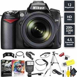 Nikon D90 Dslr Camera + 18-105mm Lens Base Combo Internation