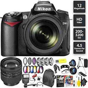 Nikon D90 Dslr Camera + 18-105mm Lens + Nikon 24-85mm Lens Z