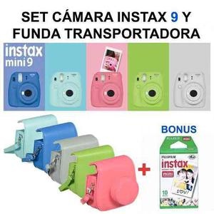 Pack Instax Mini 9 Camara + Funda Original + Rollo Gratis