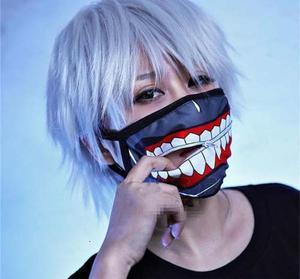 Tokyo Ghoul Kaneki Ken Cubre Bocas Zipper Anime Cosplay