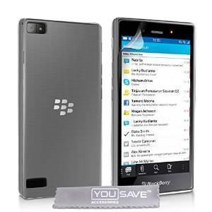Yousave Accesorios Blackberry Z3 Caso Cubierta Clara De Gel