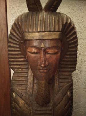 Estatua Mediana de Egipcio en Fina Madera Importad