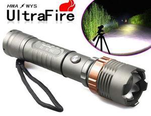Lampara Tactica  Lumens Ultrafire Recargable Zoom Led