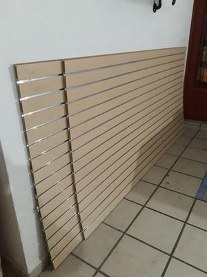 Panel Ranurado Con Inserto De Aluminio. 1.22 X 2.44 M 2