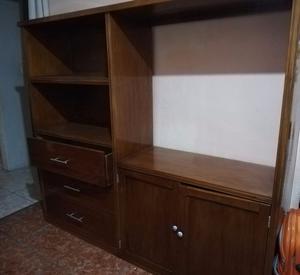 mueble de madera para tv y cajones