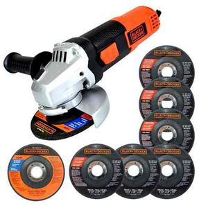 Esmeril Angular w 7 Discos G720p-b3 Black & Decker