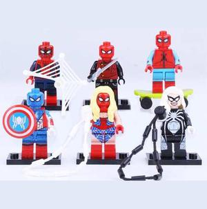 Excelente Set Parodia Spiderman Compatibles Bloques