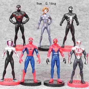 Figura De Accion 7 Piesas Spider-man Multiverso 9 Cm