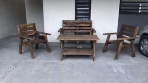 Sala de madera para jardín