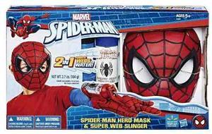 Spider Man Lanzador Telaraña Agua 2 En 1 Guante Mascara