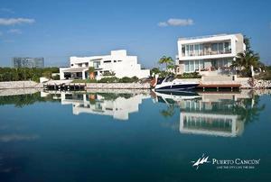 puerto cancun lagunas 1 terreno lote en venta con muelle