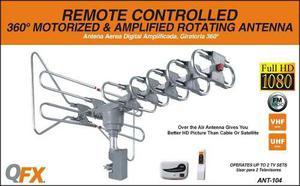 Antena Aerea Qfx Remota Giratoria 360