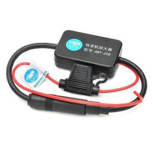 Antena Amplificador Para Auto De Radio Fm 25db Con Indicator