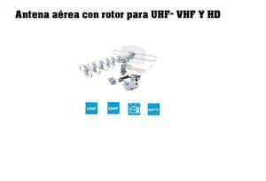 Antena Aérea Con Rotor Vhf Uhf - Hd Ycontrol Remoto Cable R