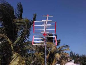Antena Aérea De Aluminio 16 Elementos Hd. Más Cable