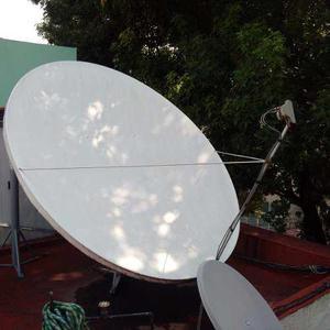 Antena Dish,directv,offset, Fibra De Vidrio 2.68 Mts.