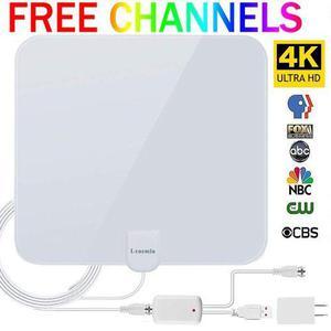 Antena Hd Tv 50 Millas Desmontable Señal Booster -blanco