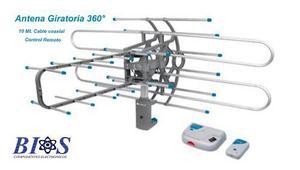 Antena Hdtv Amplificada Giratoria Control Remoto Tv Aérea