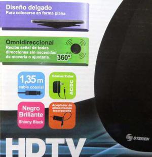 Antena Hdtv Para Interiores Con Cable Coaxial 1.35m - Steren