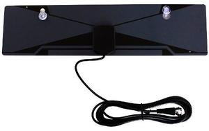 Antena Para Tv Hdtv Interior Plana Con Ventosas