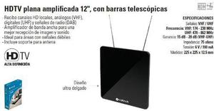 Antena Television Tv Pantalla Hdtv Plana Amplificada 12,
