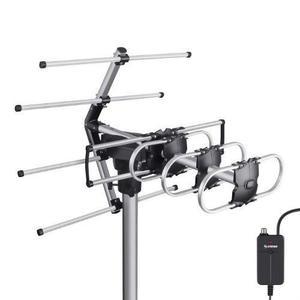 Antena Uhf Aérea Con Rotor Y Booster, De 12 Elementos Hd |