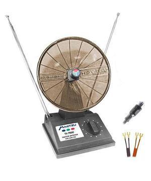 Antena Universal Hd Tv Vhf/uhf Tipo Radar Con Ajuste