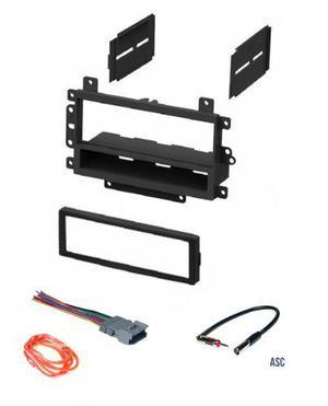 Asc Audio Car Stereo Radio Dash Kit Adaptador De Antena Y A