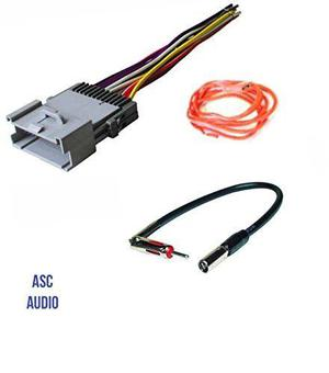Asc Audio Car Stereo Wire Harness Y Adaptador De Antena Par