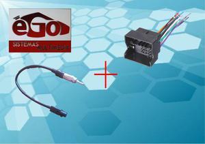 Kit Convertidor Adaptador Antena Arnes Estereo Gol 2013 2015