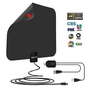 Tv Antena, Amplificado Hd Digital Tv Antena Con Largo 60-80