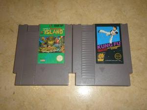 2 Juegos Nintendo Nes Originales Adventure Island Y Kung Fu