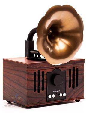 Bocina Portátil Retro Fonografo Vintage Hogar Adorno M13