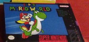 Caja Juego Super Mario World Super Nintendo Snes