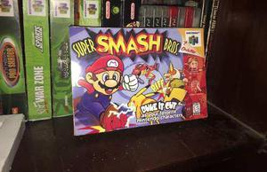 Caja Super Smash Bros Nintendo 64 Custom Con Holder