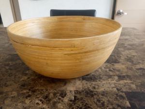 Centro de mesa de bambú
