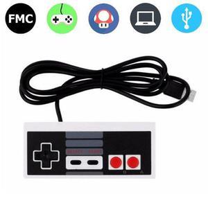 Control Gamepad Nes Usb Videojuego Juegos Pc Nintendo