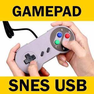 Control Gamepad Snes Usb Videojuego Juego Pc Nintendo