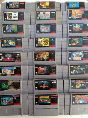 Gran Lote 24 Juegos Super Nintendo Snes Metroid Mario