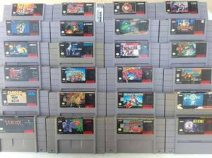 Gran Lote De Juegos Mario Súper Nintendo Envío Gratis