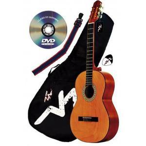Guitarra Acústica Mod.1-a Vz En Paquete Varios Colores