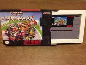 Juego Súper Nintendo Súper Mario Kart En Caja Custom