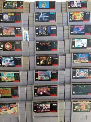 Lote 24 Juegos Super Nintendo Snes Zelda Mario Envio Gratis