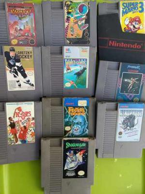 Lote De 10 Cartuchos Videojuegos Nintendo Mario Nes