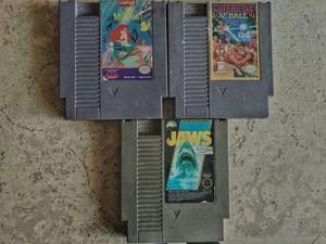 Lote De 3 Juegos Para La Nintendo Nes Funcionando Al 100%