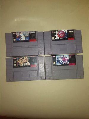 Lote De 4 Juegos Usados De Super Nintendo Snes $ 449.99 Mn