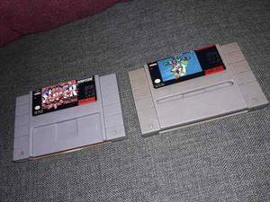 Lote De Juegos De Snes Super Street Figthers Y Mario World