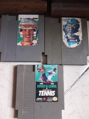 Lote De Tres Juegos Para Nintendo Nes Funcionando Al 100%